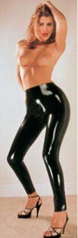 Pantalon Noir Moulant en Latex