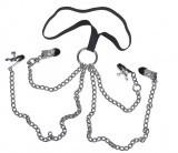 Harnais Chaines Quatre Pinces BDSM