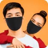 Masque Covid Lavable Noir