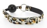 Baillon Cuir Leopard