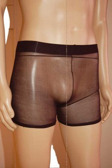 Boxer Transparent Façon Collant Black