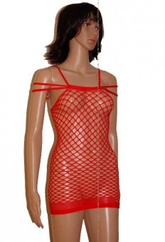 Robe Resille Sexy Rouge