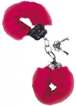 Menottes Metal Fourrure Rouge
