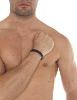 Bracelet Tresse Mince Cuir