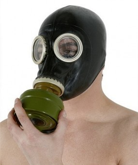 Masque A Gaz Cagoule Latex BDSM