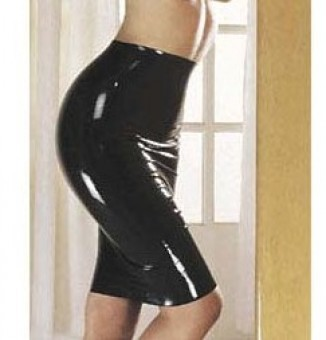 Jupe Longue Moulante en Latex