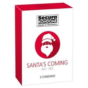 Préservatifs Santa's Coming Goût Fraise x3