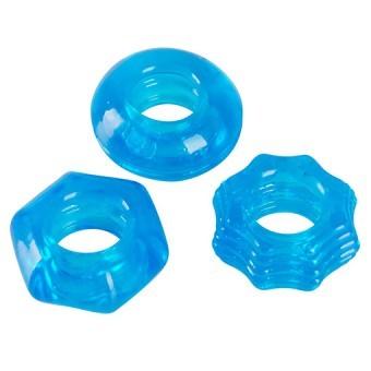 Set Cockrings Bleus ø1,5 par 3