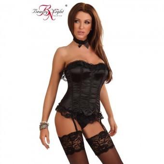 Guepière Sexy Scarlett Noire