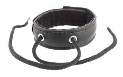 Cockring Cuir Velcro Et Lacet