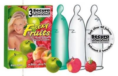 3 Préservatifs Framboise Pomme Pèche