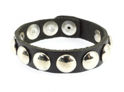 Cockring Cuir Rivets Larges